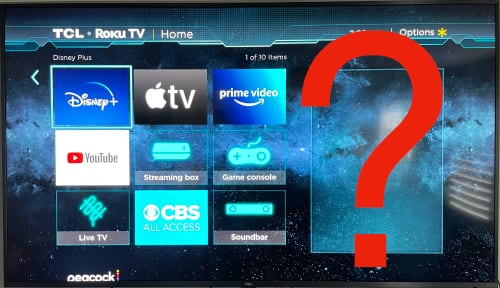 On the right hand side of the Roku home screen there is usually an ad.